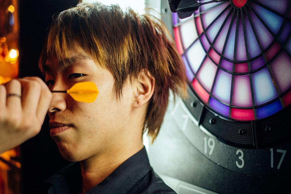 Mitsuhiro e le sue freccette.