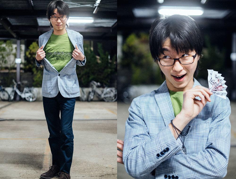 Danjyuuro, la sua faccia furbuffa e la sua nuova maglietta della Babel Line
