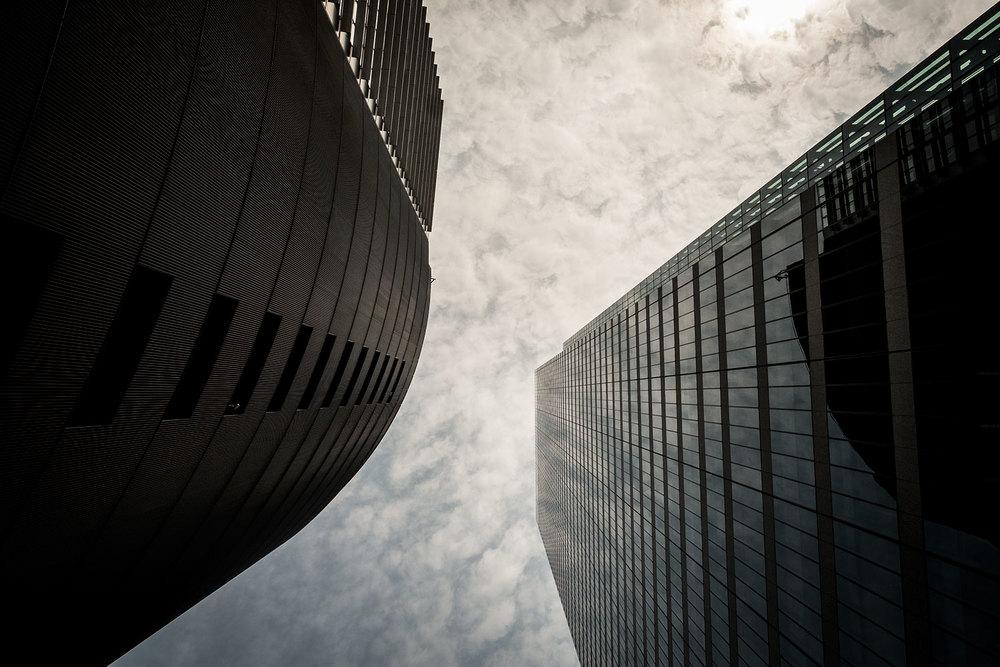 I palazzi del centro di Nagoya