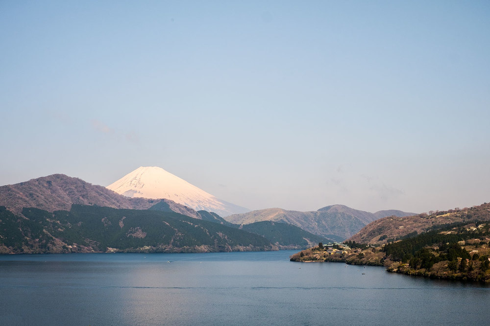 View of Mt.Fuji from lake Ashi