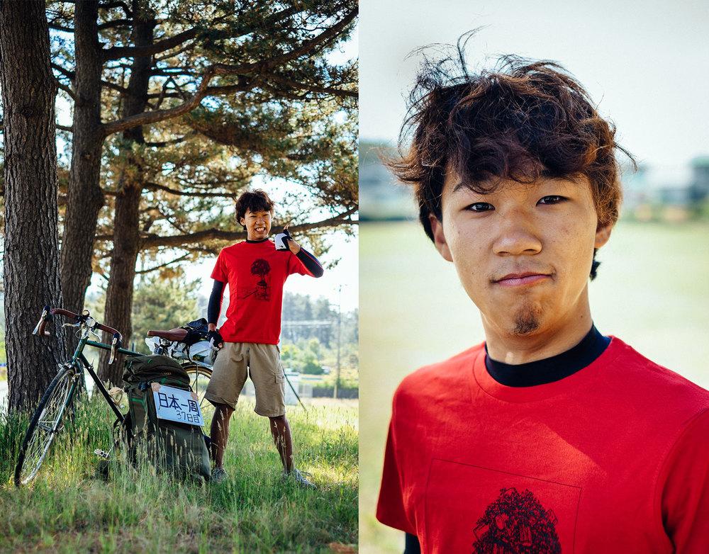 Kazuhito e la sua nuova magliette dalla Babel Line.