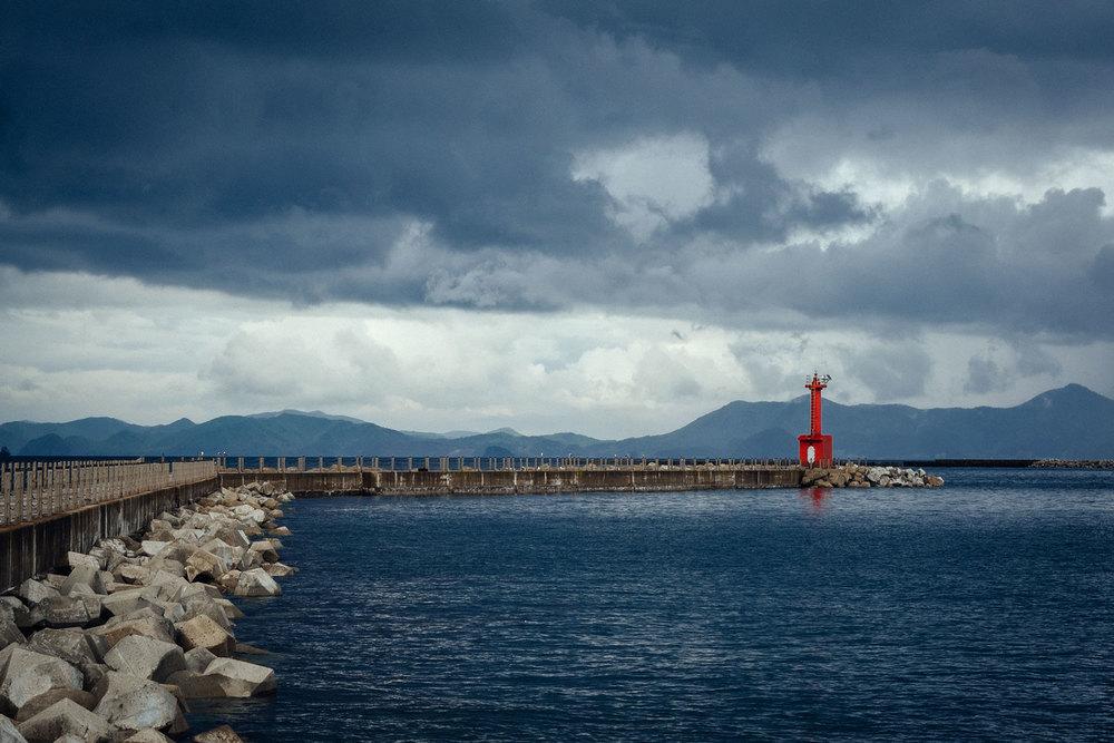 La vista dal terminale dei traghetti