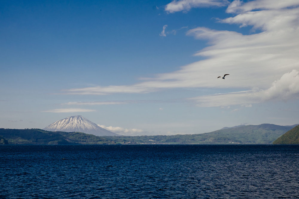 Mount Yotei on Lake Toya