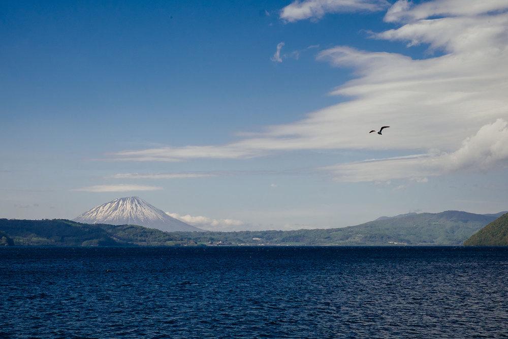 Mount Yotei on Lake Toya