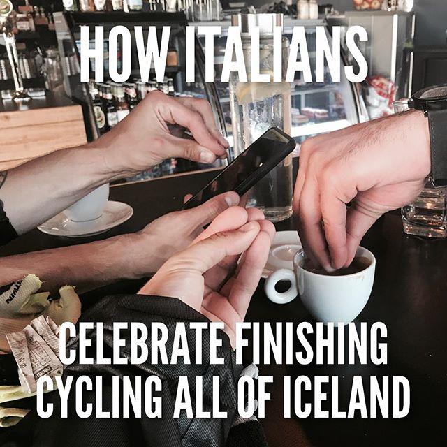 ... with espresso. (Mancano ancora un paio di km ma vabbe')