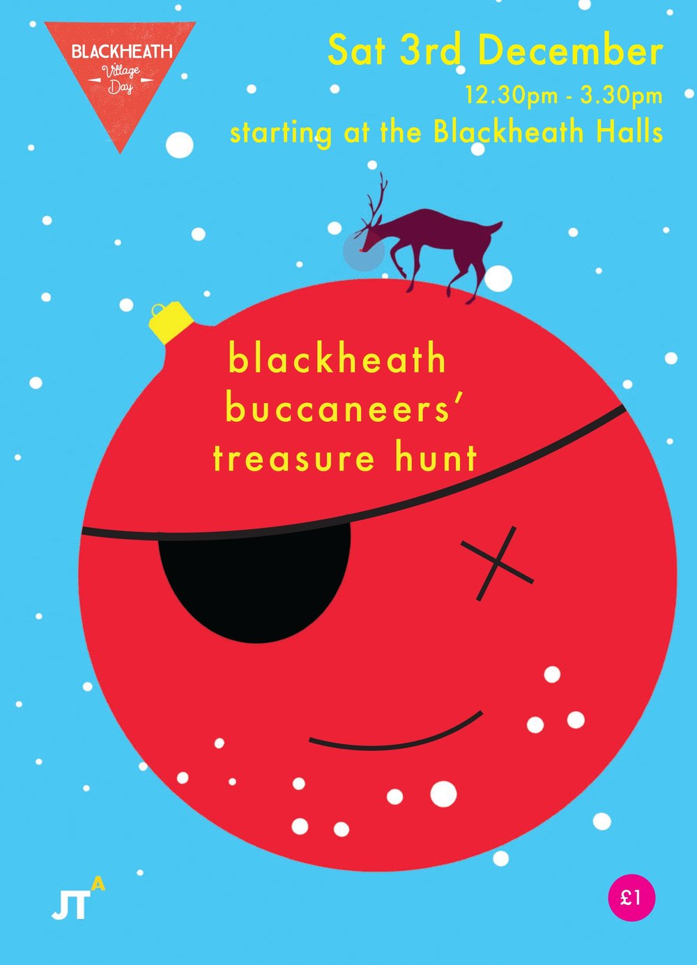 JTA are proud to announce that we will be running our spectacular Village Day treasure hunt for the third year in a row! See you on the 3rd December from 12.30pm!