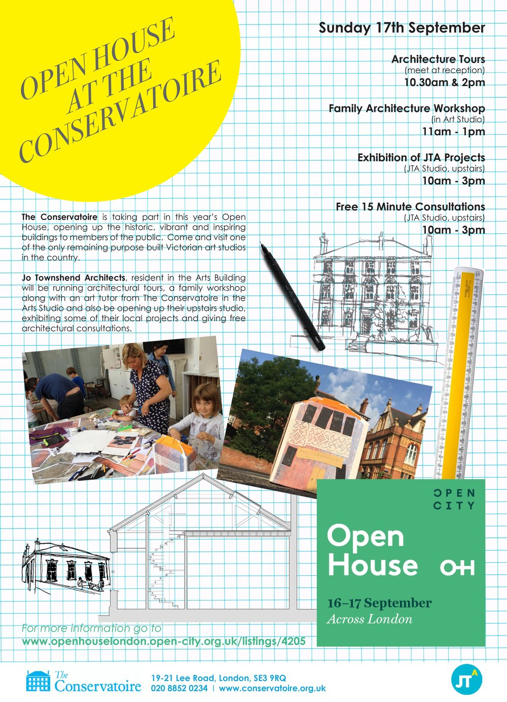 Come and join us for a day of architecture related fun at The Conservatoire, Blackheath on Sunday 17th September!