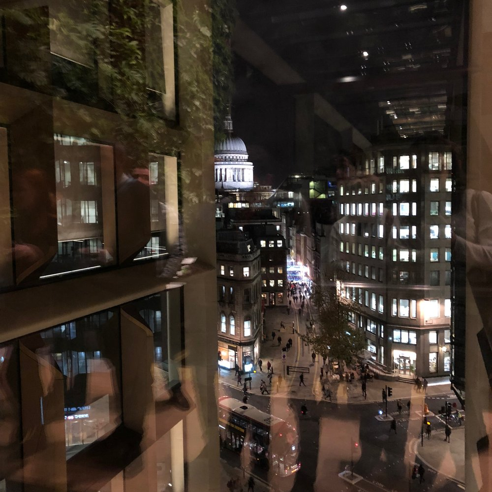 View of St Paul's Cathedral from 'The Pantry' on the 6th floor of Bloomberg.