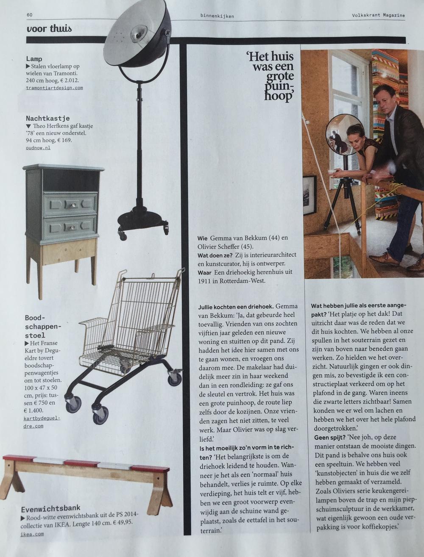 Kastje 78 in Volkskrant Magazine Maart 2015.