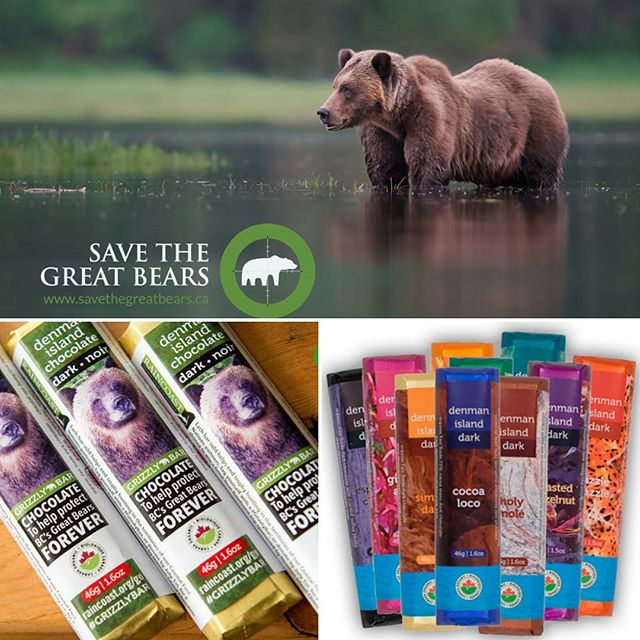 Purchase a Denman Island Chocolate #grizzlybar to help protect BC's great bears forever! . . . . . #denmanislandchocolate #chocolate #helpthegrizzly #madeincanada #organic #heartpharmacy #fairfieldplaza #shoplocal #victoriabc #vancouverisland #bc #yyj #vanisle #westcoastbestcost