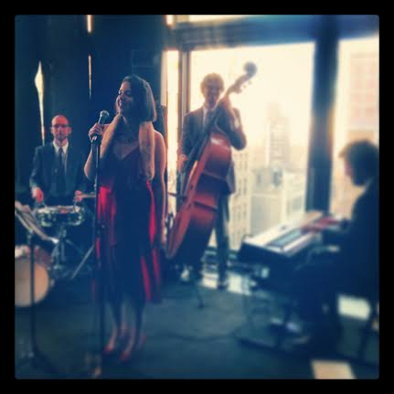 Performing at a corporate party at the Gansevoort Hotel