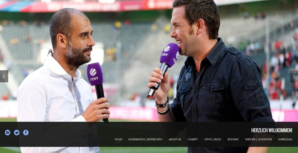 """Webdesign und Erstellung Homepage für TV-Moderator Matthias Killing vom SAT.1 Frühstücksfernsehen und SAT.1 """"ran"""""""
