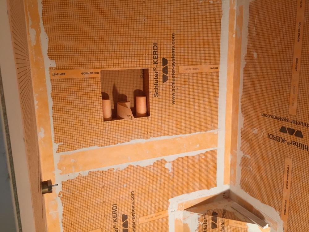 Built In Storage Niche & Corner Bench