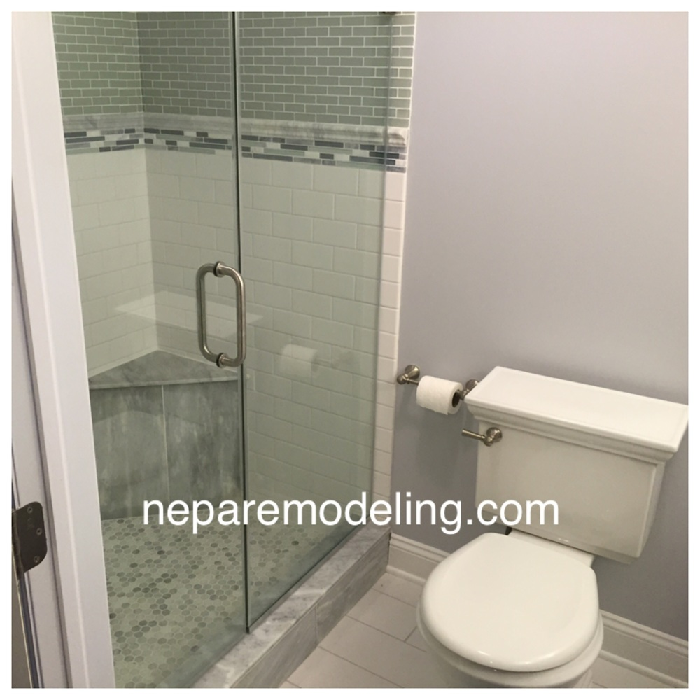 Completed Shower With Frameless Door