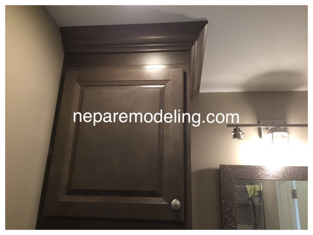 Crown moulding installation.
