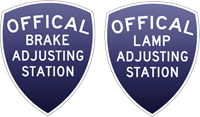 We are a certified lamp and brake inspection and adjustment station