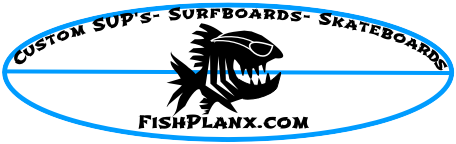 Flishlanx custom built skateboards and SUP's