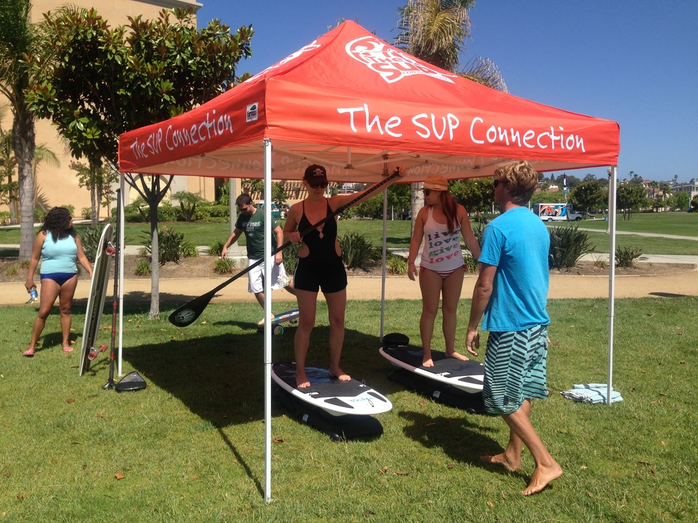Never paddleboarded before? We can help get you on the water. Our one-hour lesson price is $50.00. Paddleboard (SUP) lessons are provided by   The SUP Connection   located at   2592 LANING ROAD SAN DIEGO, CA 92106  .