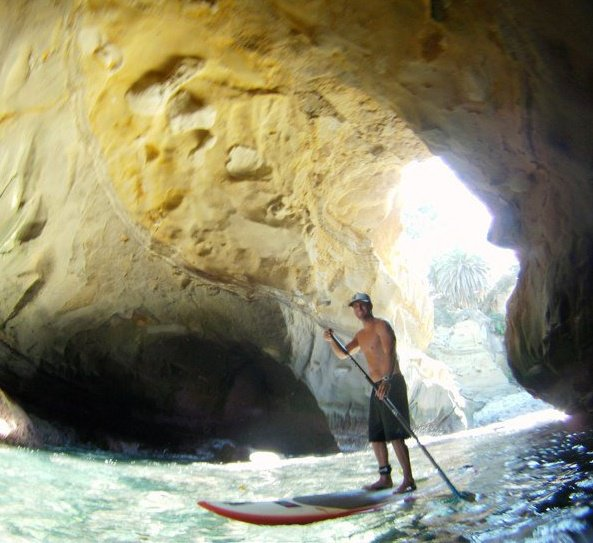 Paddleboarding from La Jolla Shores to La Jolla Cove