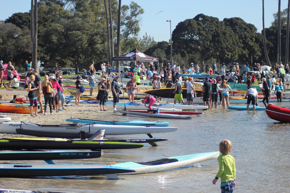 The Hanohano Huki Ocean Challenge in Mission Bay is one of the Longest Running Paddlesport Races in California (OC-1, Surfski, Traditional Paddleboard, Standup Paddleboard and Kayak) We've always had a great mix of top level professional athletes and beginners from ages 7-80. Photos by Ola Moana Marketing