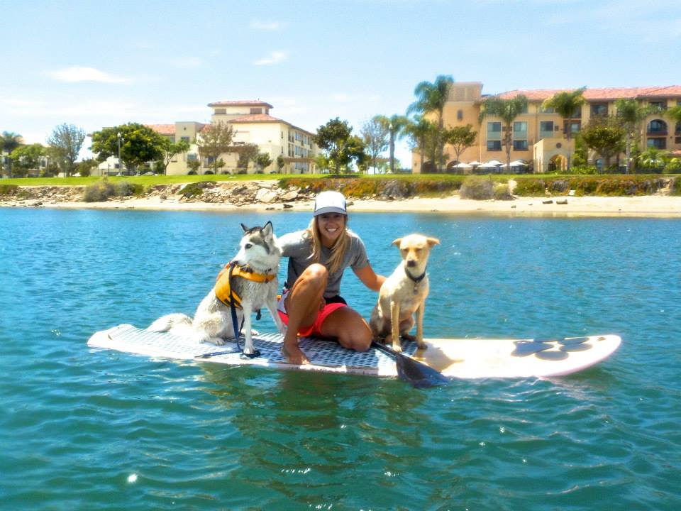 Samantha Eastburn with SUP Pups at The SUP Connection in San Diego