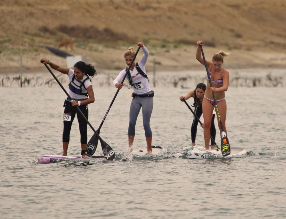 The future of women's SUP racing looks bright; left-right: Erika, Alex, Jade and Shae (photo:Mike Muir)