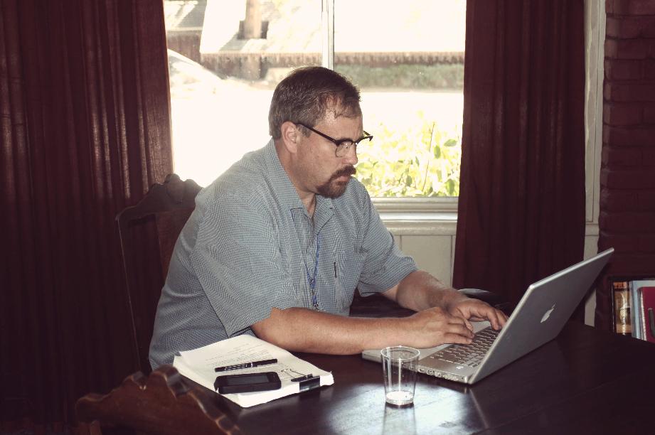 Writer working