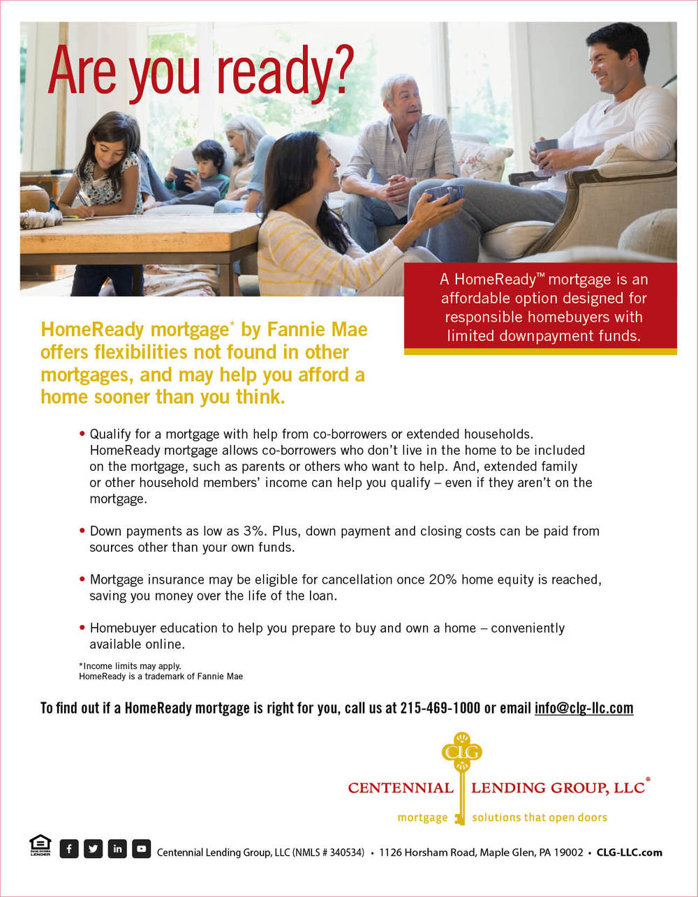 HOME READY MORTGAGES