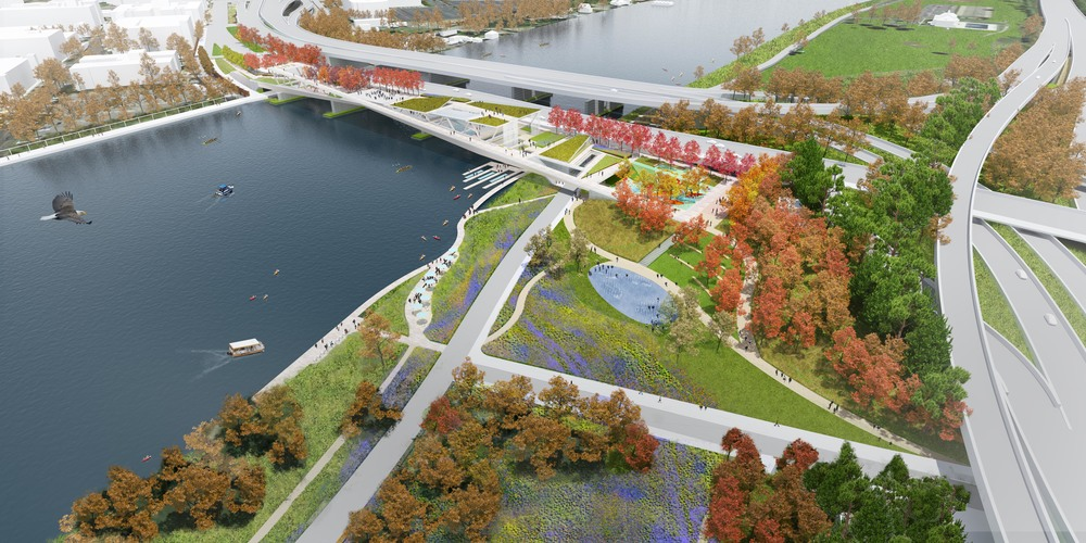 11th Street Bridge Park Design Competition ©OLIN