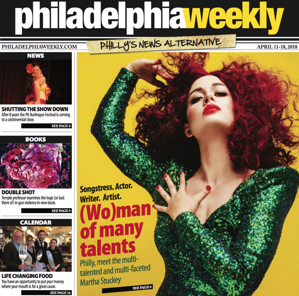 Cover of Philly Weekly - check! - She's complexity in a costume.