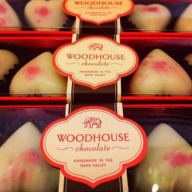 Valentine's Day is coming... #woodhouse #valentinesday #gotchocolate #chocolate #napavalley #localfavorite #wineandchocolate #pinkcaramel #hearts #sweets