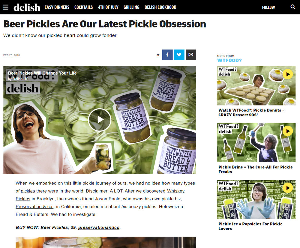 Delish Beer Pickles Segment