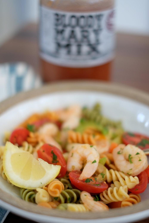 Bloody Mary Shrimp Pasta Salad