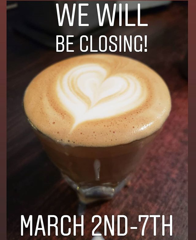 We are doing some spring cleaning in the Cafe this coming week! We will be open again normal hours on Friday March 8th!