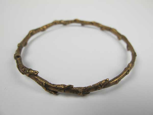 Nic Bladen-Ivy twig bangle (bronze).jpg