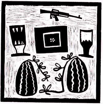 Happy-Melons,-Linocut,-420x400,-Fillipus-Shikomba.jpg