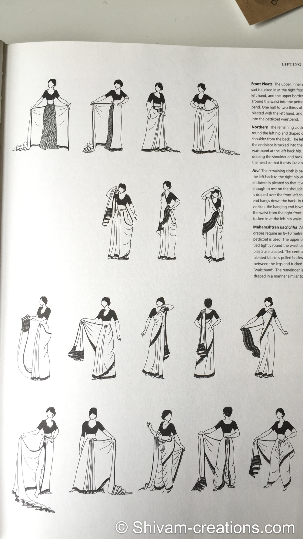 How to drape a Sari
