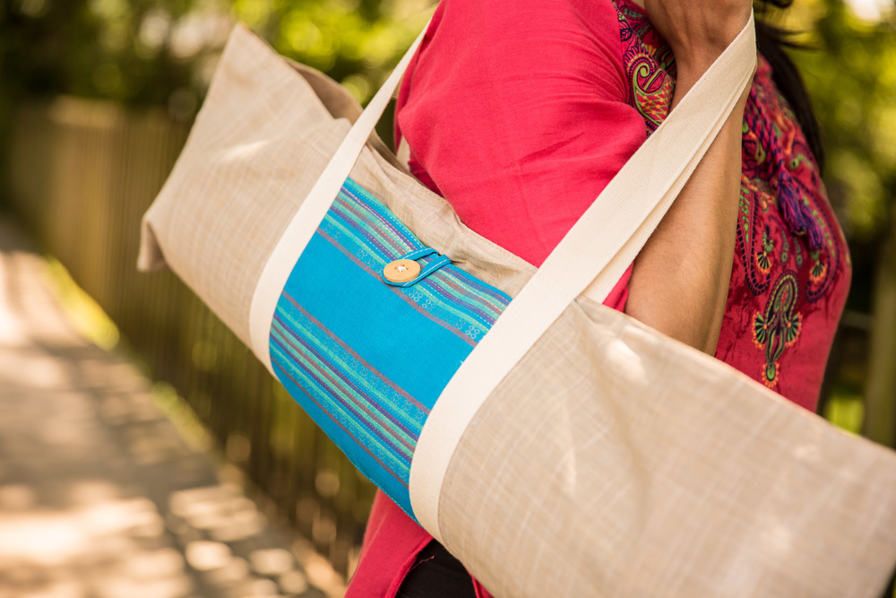 Cotton Yoga Mat Bag by Shivam Creations