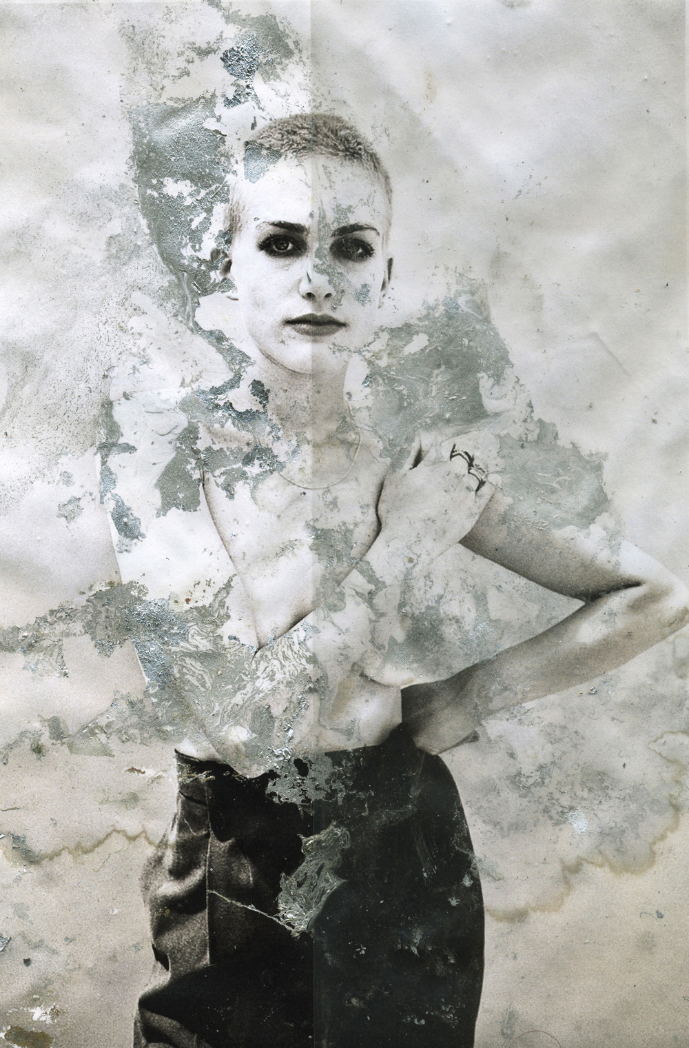 scan of mixed media on photograph  portrait by Justin Tyler Close