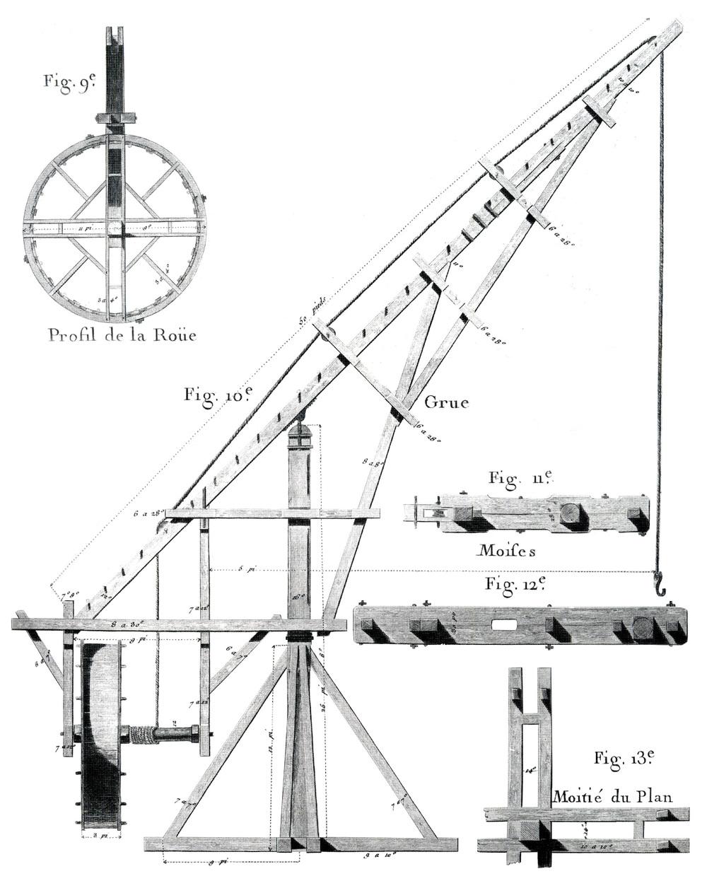 perronet crane handshouse studio  1750 perronet crane drawing