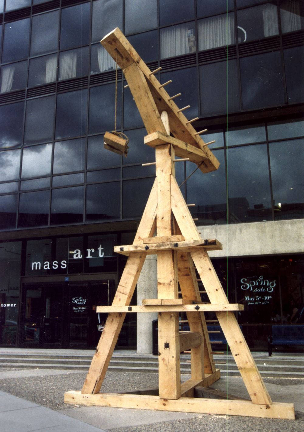 The Diderot Crane in front of MassArt, Boston.