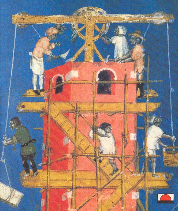 Stavba veze babylonske, Rudolf von Ems, Weltchronik