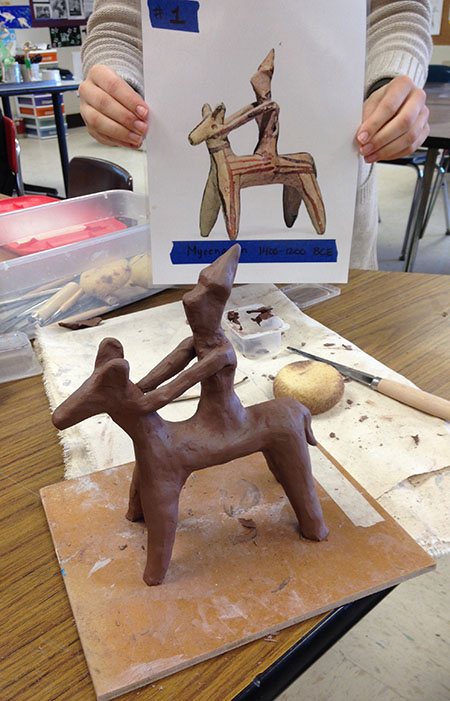 Students from Apponequet Regional High School in Lakeville, Massachusetts have already started making their horses.