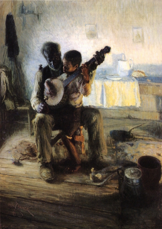The Banjo Lesson, oil on canvas by Henry Ossawa Tanner, (1859-1937), Hampton University Museum, Virginia.