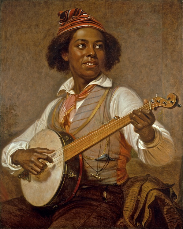 William Sidney Mount. The Banjo Player, 1856. Oil on canvas. 36 x 29. Gift of Mr. and Mrs. Ward Melville, 1955. Copyright The Long Island Museum.