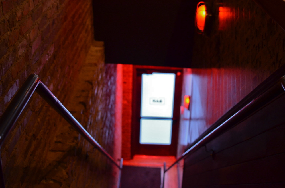 The izakaya is located upstairs - just follow the red lights!