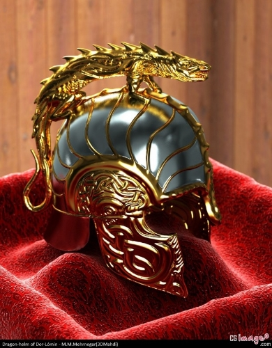 The famous Dragon Helm of Dor-Lomin, passed down from Hurin to Turin.