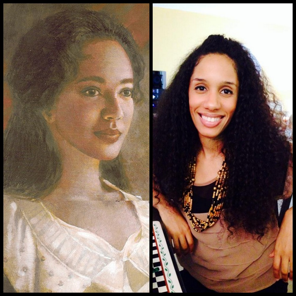 Sally Hemings and yours truly.