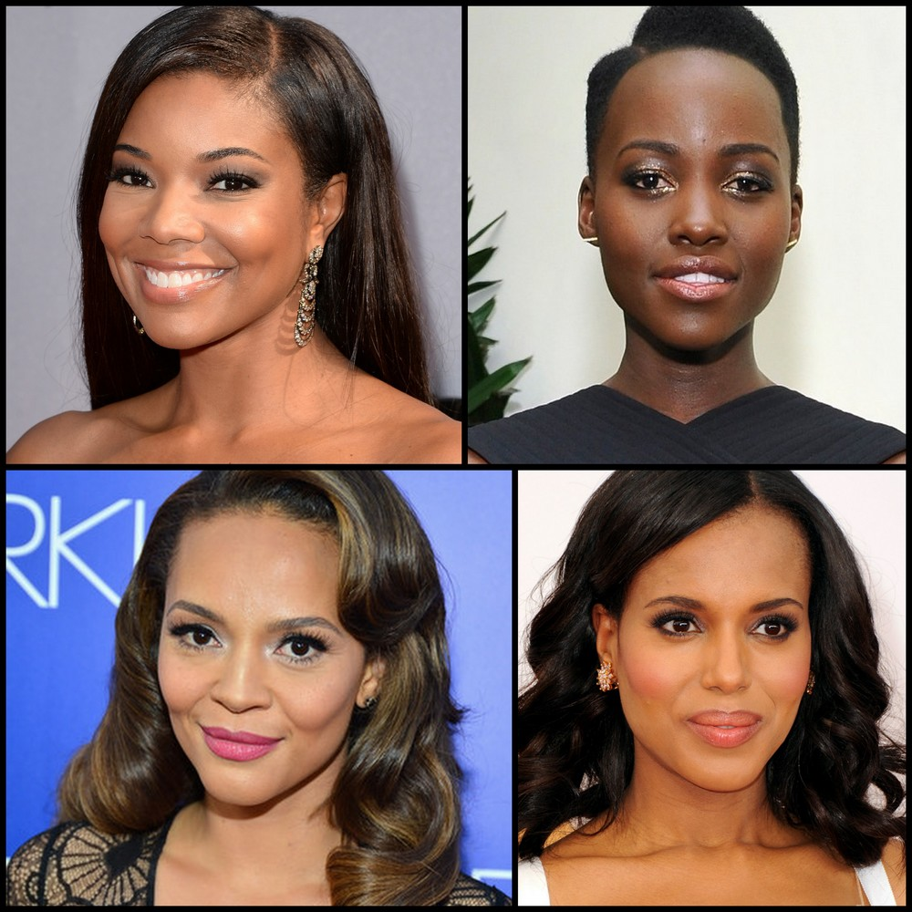 Top to Bottom, Left to Right: Gabrielle Union, Lupita Nyong'o, Carmen Ejogo, and Kerry Washington.