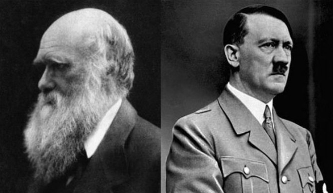 Charles Darwin and Adolf Hitler